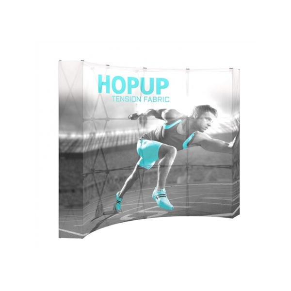 Hopup 8ft Popup Display With Endcap (Curve)