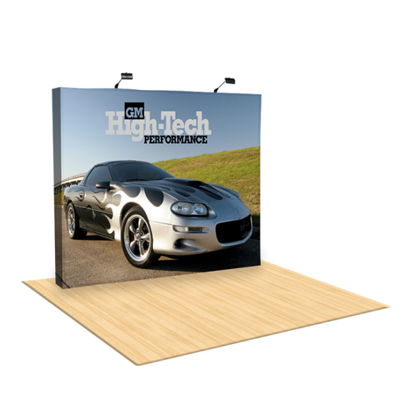 10ft Straight Fabric Pop Up Display