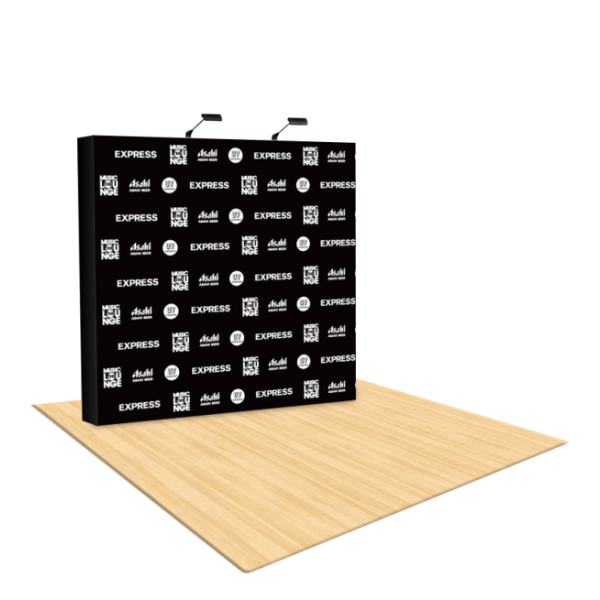 8Ft Straight Fabric Pop Up Step & Repeat Backdrop 1