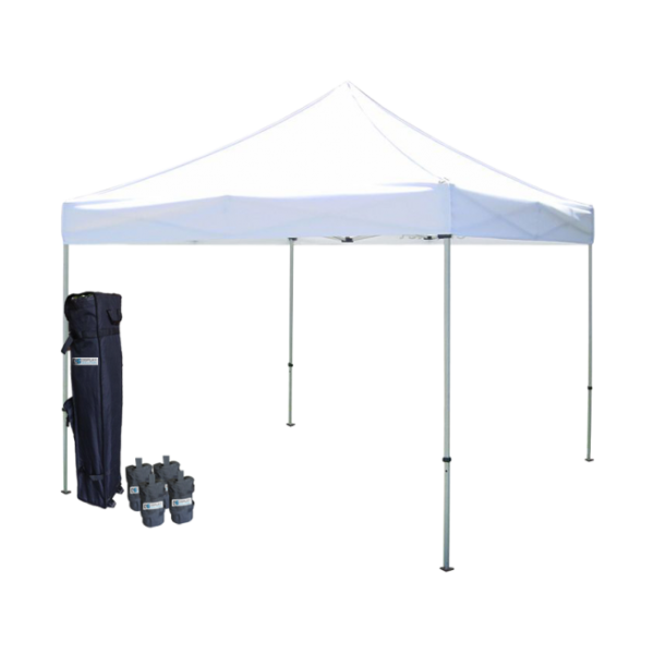 10' W X 10' H Canopy Tent with Steel Frame (30mm)  - White