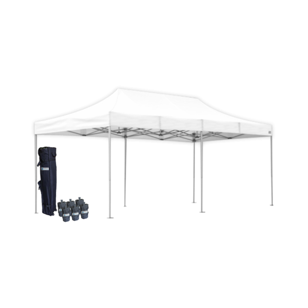 10' W X 20' H Canopy Tent With Aluminum Frame 40mm (Commercial Grade) - White