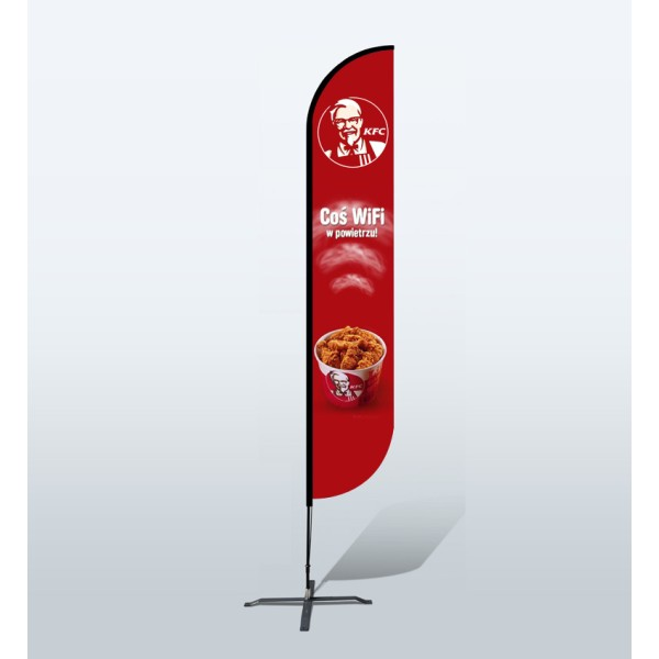 12ft Custom Convex Flags (Large)