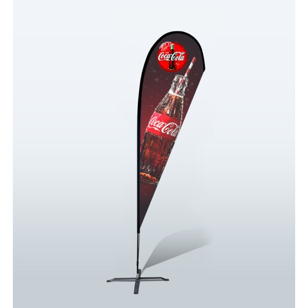 16.4ft Custom Teardrop Flag With Ground Spike (Large)