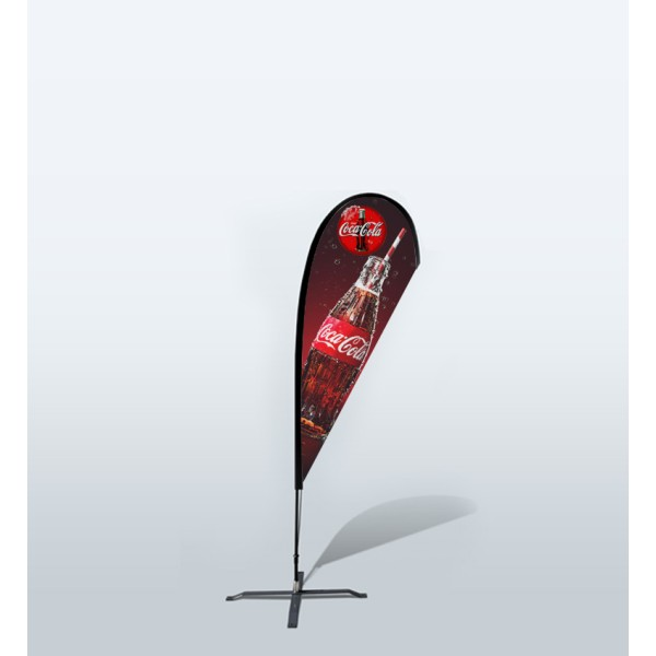 7.2ft Custom Teardrop Flag With Ground Spike (Small)