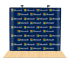 10ft Straight Pop Up Step & Repeat Backdrop 1
