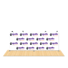 Tru-Fit 20Ft Straight Tension Fabric Step & Repeat Backdrop 1