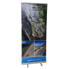 "33"" Retractable Banner Stand with Graphic 2"
