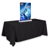 """11.75"""" Table Top Mini Banner Stand with Graphics"""