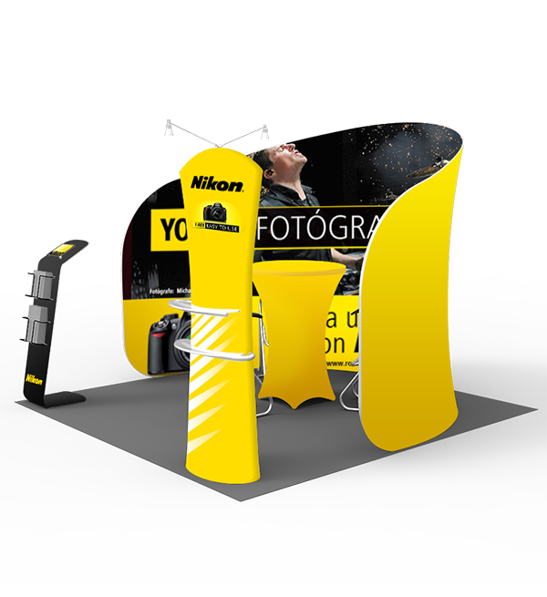 10ft Trade Show Displays- Series K (Curved) 2