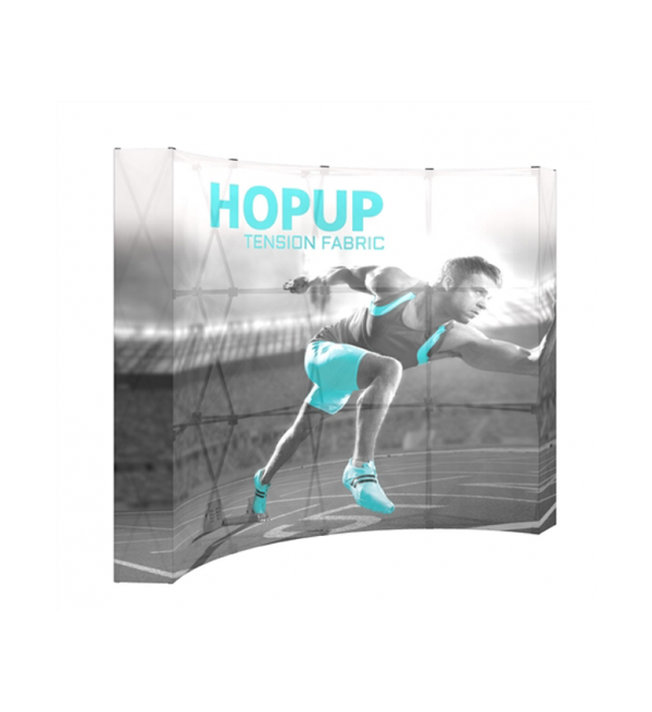 Hopup 8ft Popup Display With Endcap (Curve) 1
