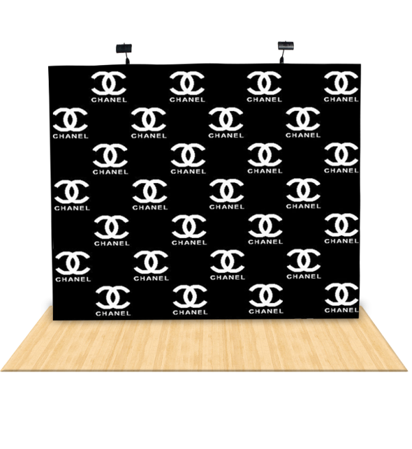 10Ft Straight Fabric Pop UP Step & Repeat Backdrop 2