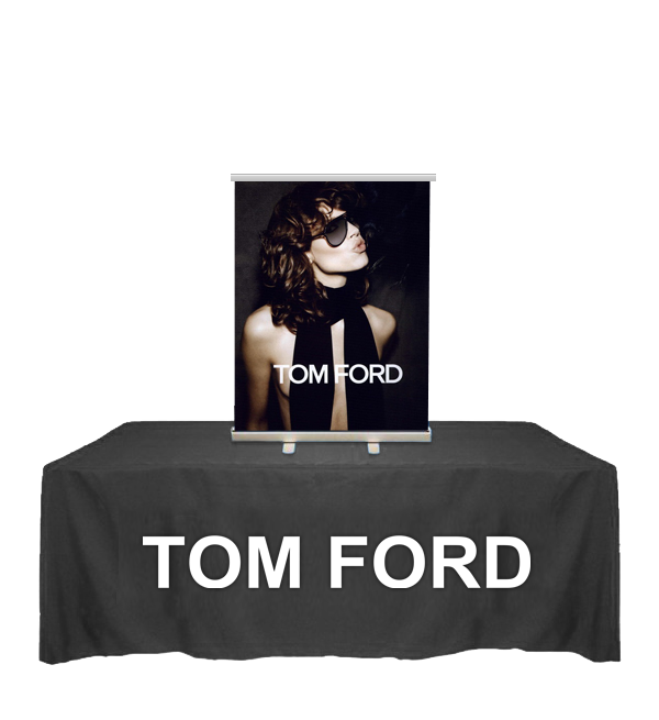 "24"" Table Top Mini Banner Stand with Graphics"