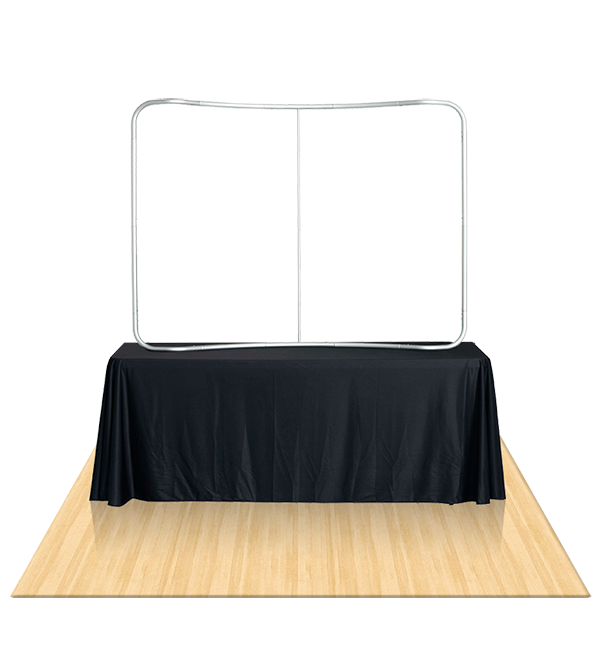 Tru-Fit 6Ft Curved Table Top Tension fabric Booth 2