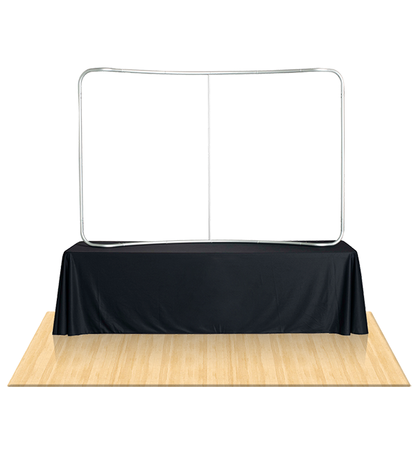 Tru-Fit 8Ft Curved Table Top Tension Fabric Booth 2