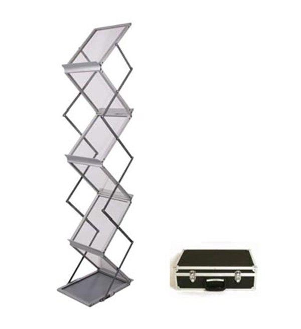 Zig Zag Brochure Stand With Heavy Duty Case 1