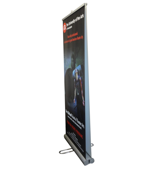 "Double Sided Banner Stand (31.5"" W X 78"" H)"