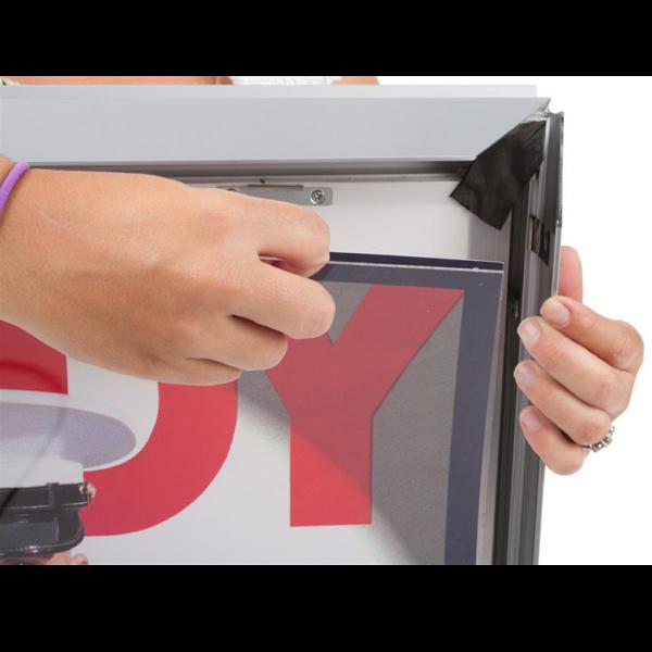 Double Sided LED Light Box Frame Set Up 1