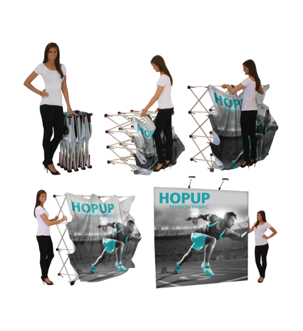 Hopup Lite 8ft Popup Display  Set Up