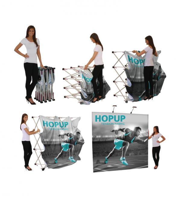 Hopup Lite 10ft Popup Display With Endcap Set Up