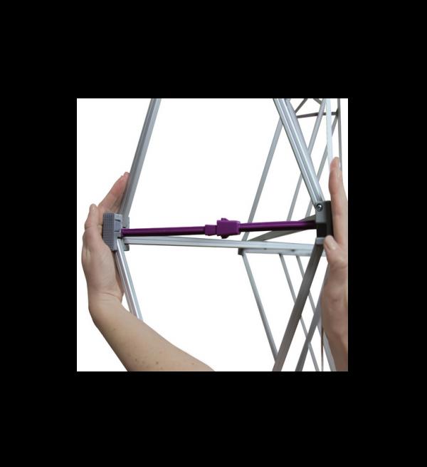 Hopup 10ft Popup Display(Curve) Frame Set Up