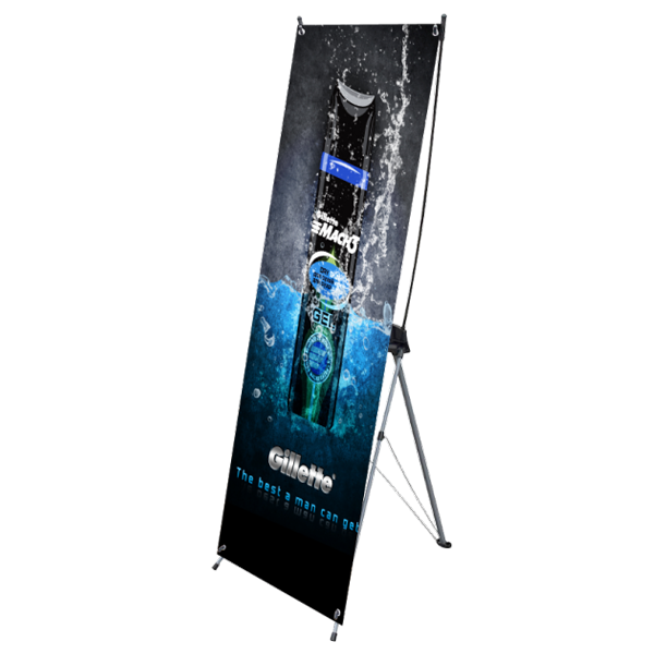 "24"" X Banner Stand with Graphics"