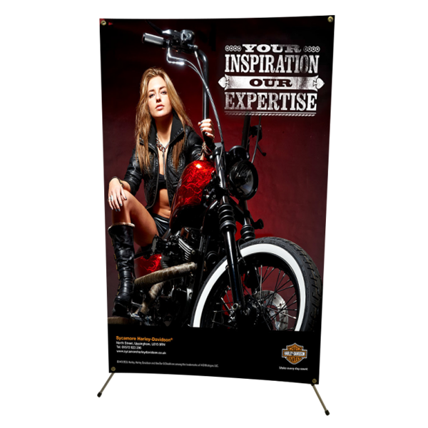 "48"" Large X Banner Stand with Graphics"