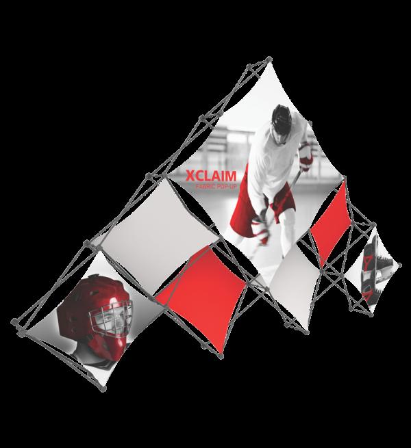 Xclaim 14ft 10 Quad Pyramid Fabric Popup Display Kit 03