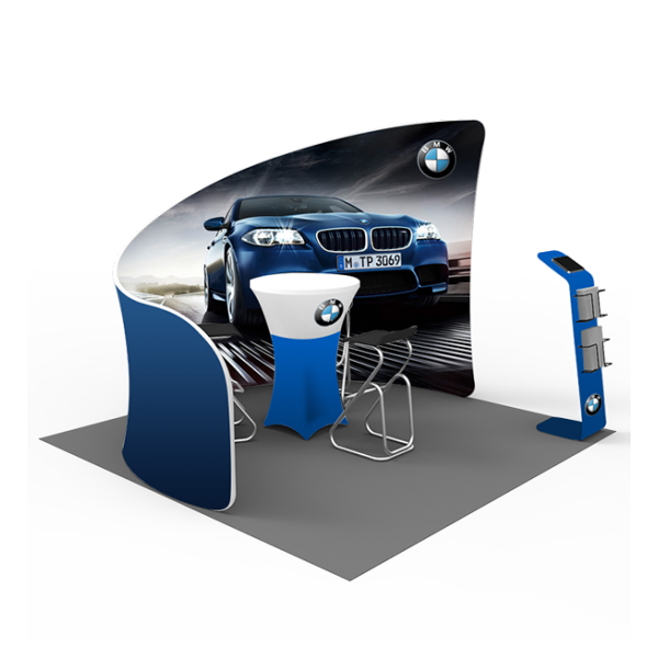 10ft Popup Booth - Series L (Curved) 1
