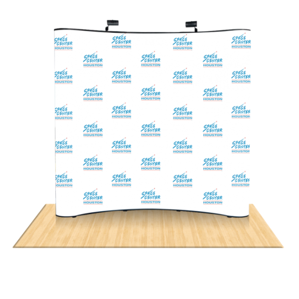 8Ft Curved Pop Up Step & Repeat Backdrop