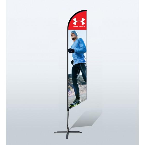 15ft Custom Angled Flag (Extra Large)