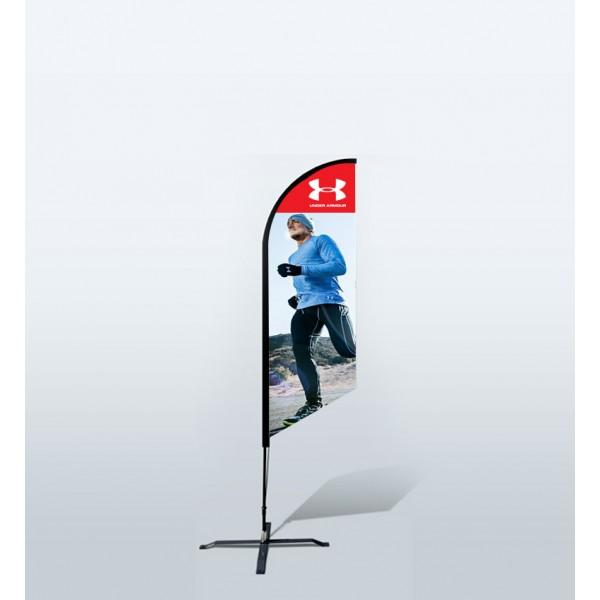 8ft Custom Angled Flags (Small)