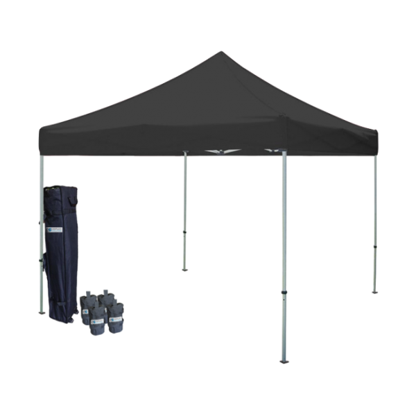 10' W X 10' H Canopy Tent With Steel Frame (30mm) - Black