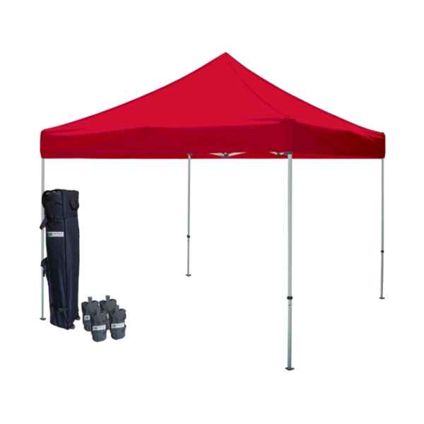 10' W X 10' H Canopy Tent With Steel Frame (30mm) - Red