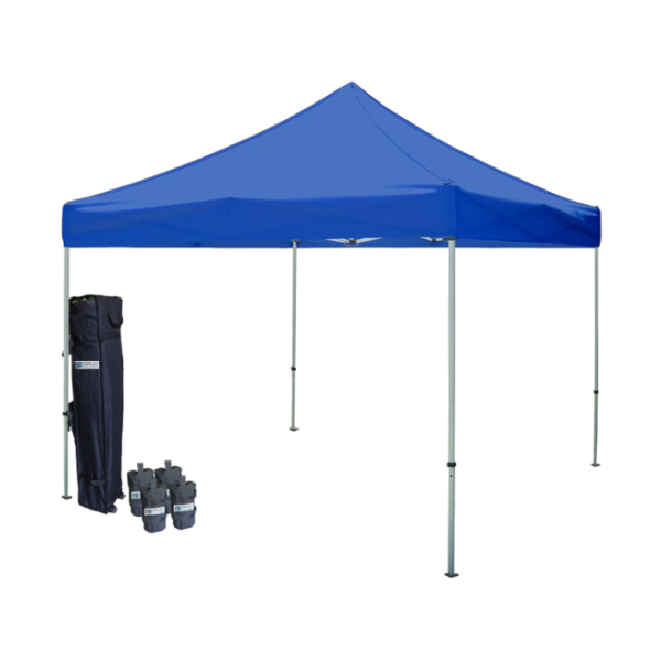 10' W X 10' H Canopy Tent With Steel Frame (30mm) - Blue
