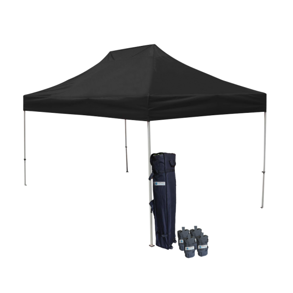 10' W X 15' H Canopy Tent With Aluminum Frame 40mm (Commercial Grade) - Black