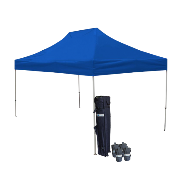 10' W X 15' H Canopy Tent With Aluminum Frame 40mm (Commercial Grade) - Blue