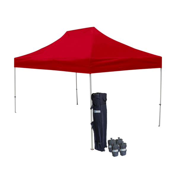 10' W X 15' H Canopy Tent With Aluminum Frame 40mm (Commercial Grade) - Red