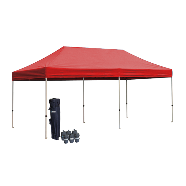 10' W X 20' H Canopy Tent With Aluminum Frame 40mm (Commercial Grade) - Red