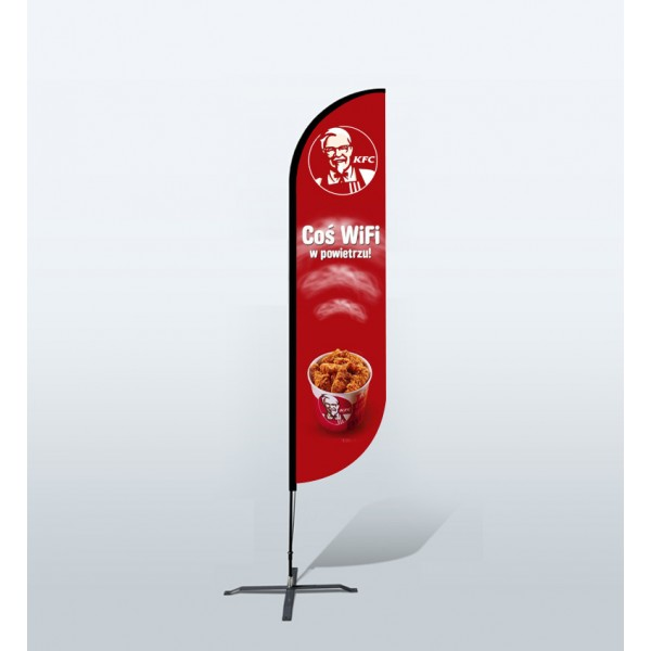 9ft Custom Convex Flags (Medium)