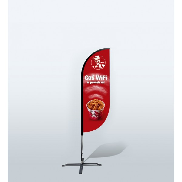6ft Custom Convex Flags (Small)