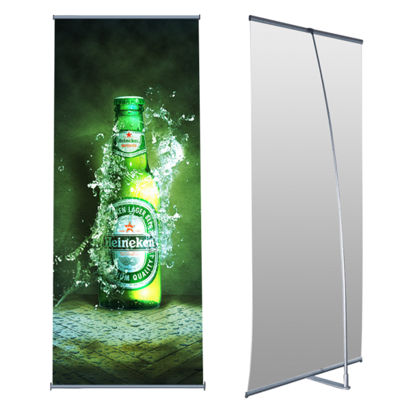 "Custom Graphics 33"" W X 78"" H-L-Banner Stand"