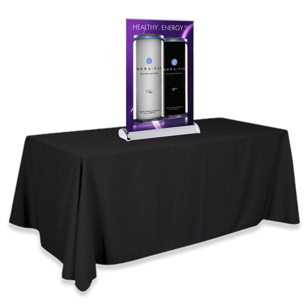 "11.75"" Table Top Mini Banner Stand with Graphics"