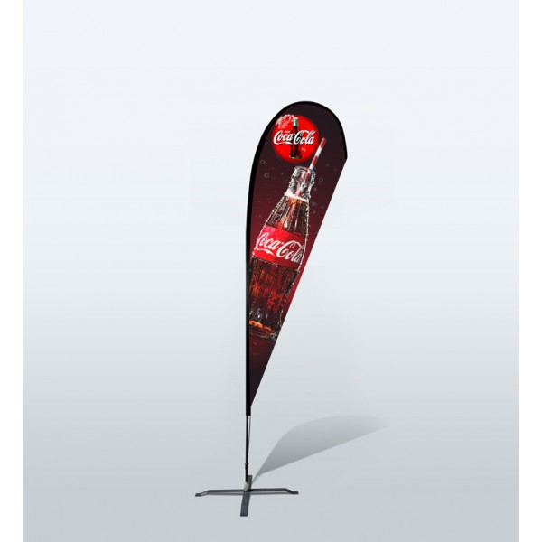 11.6ft Custom Teardrop Flag With Ground Spike (Medium)