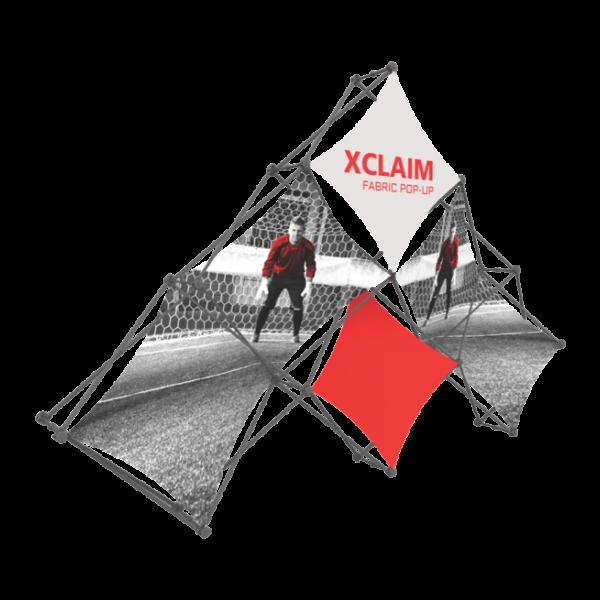 Xclaim 10ft 6 Quad Pyramid Fabric Popup Display Kit 01