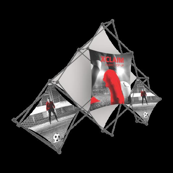 Xclaim 10ft 6 Quad Pyramid Fabric Popup Display Kit 02