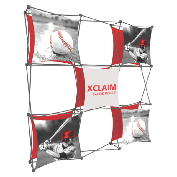 Xclaim 8ft Fabric Popup Display Kit 04