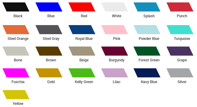 Tent Fabric Colors